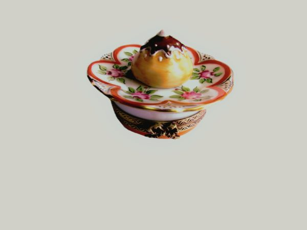 boite collection gâteau peint main limoges France