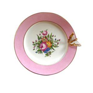 assiette dessert papillon peint main limoges France