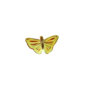 papillon porcelaine de limoges peint main leandre