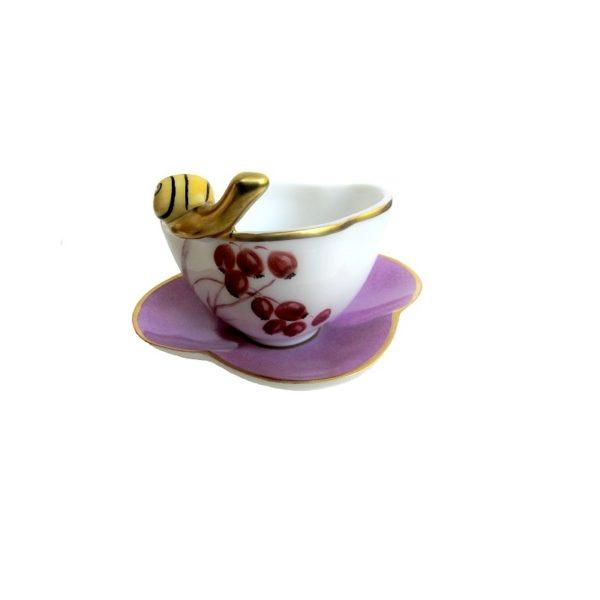 coupelle escargot peint main limoges France