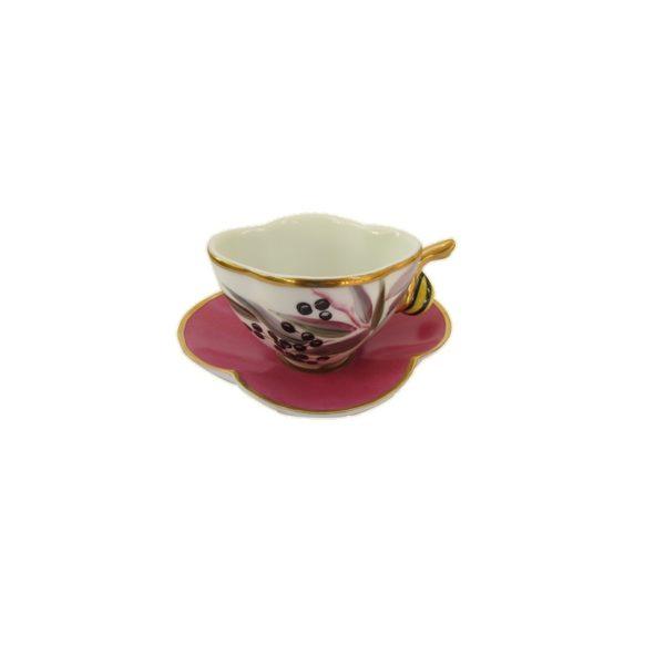 tasse escargot or limoges france peint main leandre